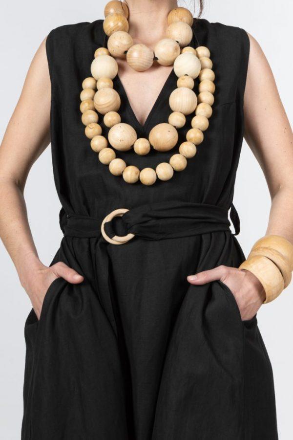 BLACK MAXI SILK DRESS