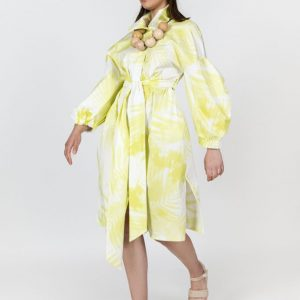 METANOIA YELLOW PRINT SHIRTDRESS