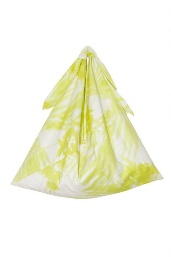 YELLOW PRINT ORIGAMI BAG
